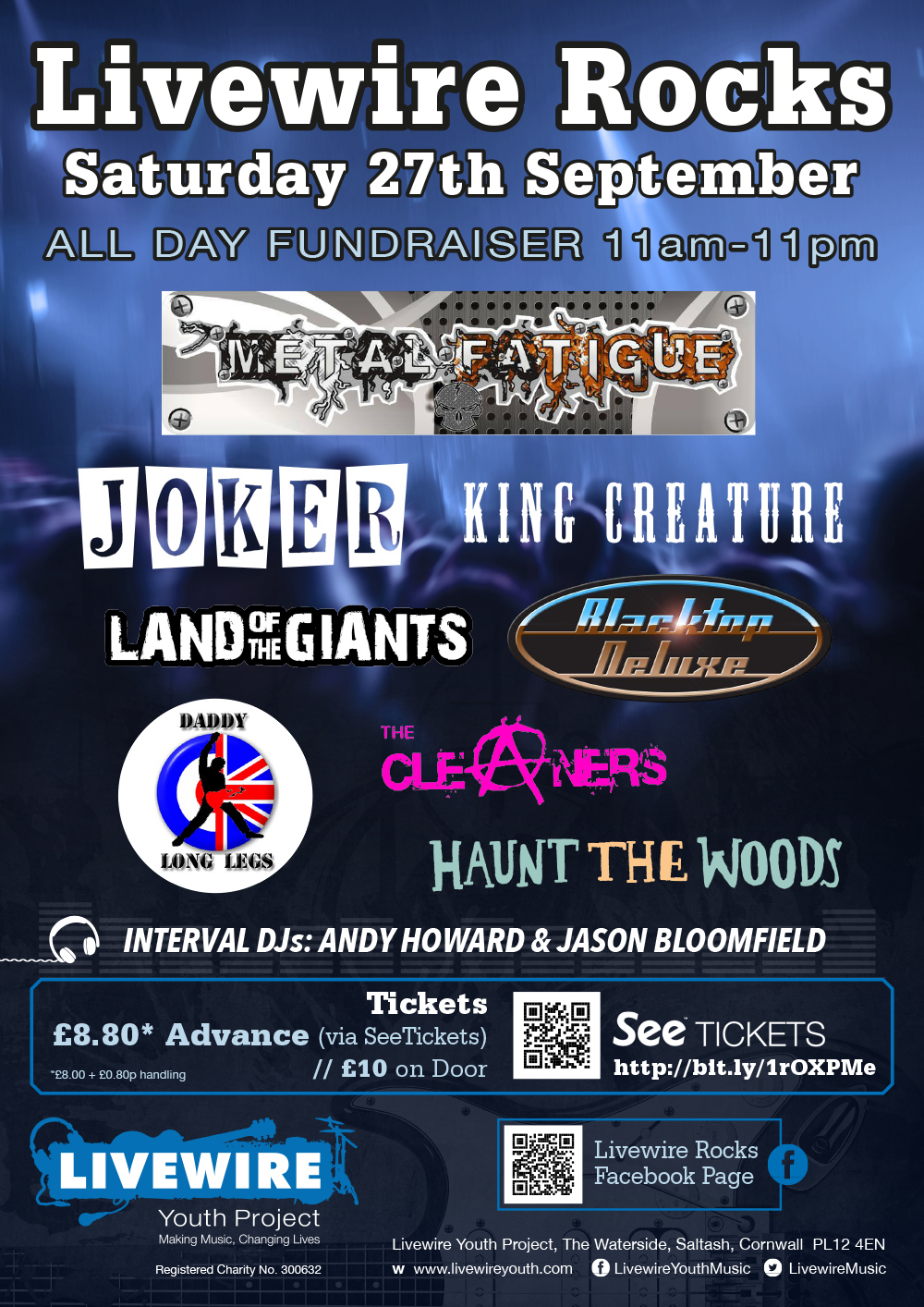 Livewire Rocks All Day Fundraiser 27/09/14