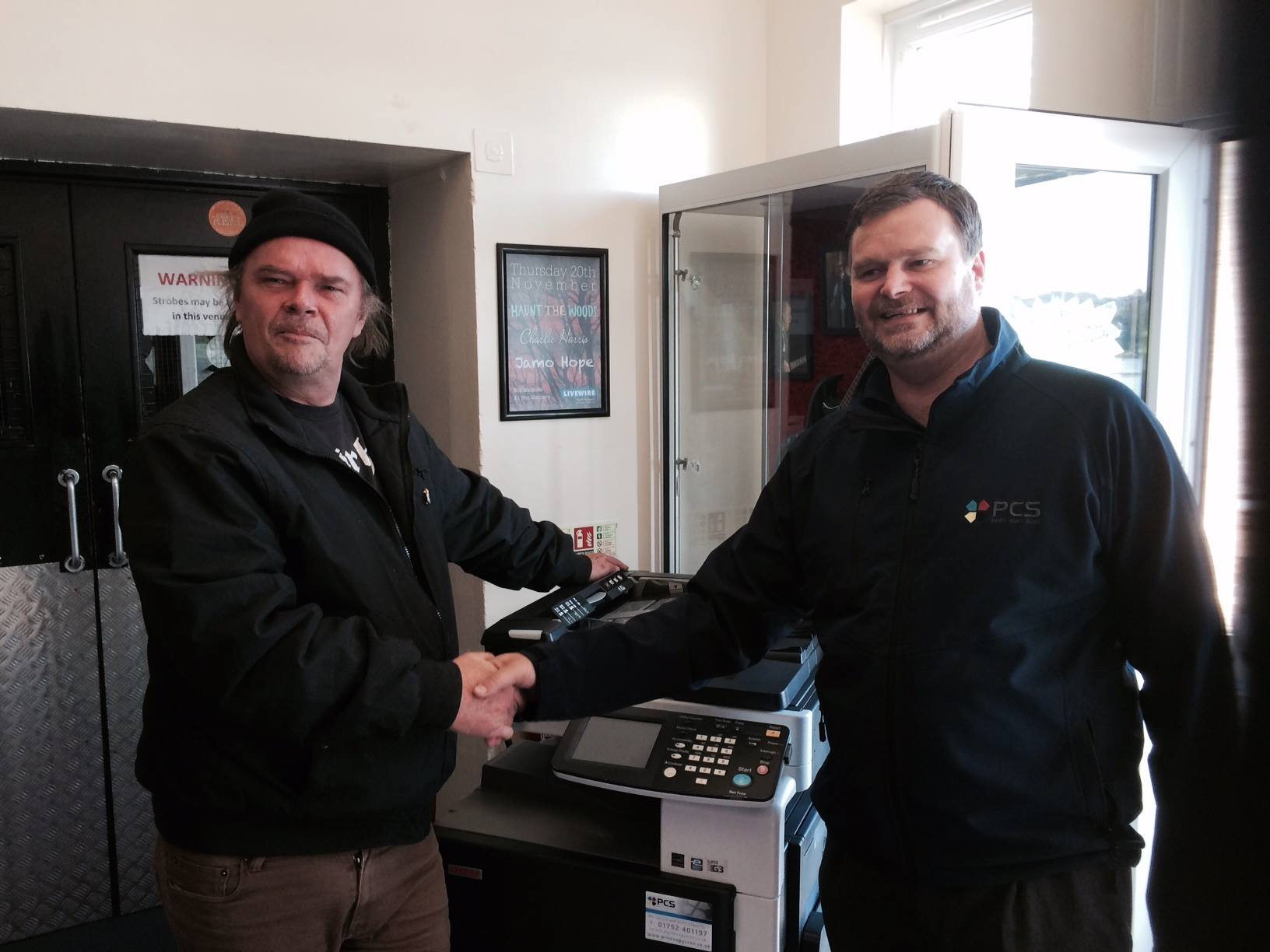 A generous donation to Livewire by local copier company