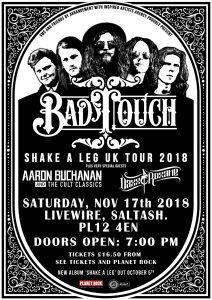 Bad Touch - Tour Poster 2018 Plain White + Livewire